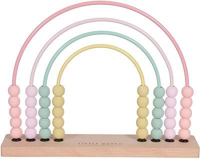 Ábaco de colores pastel para aprender las cantidades
