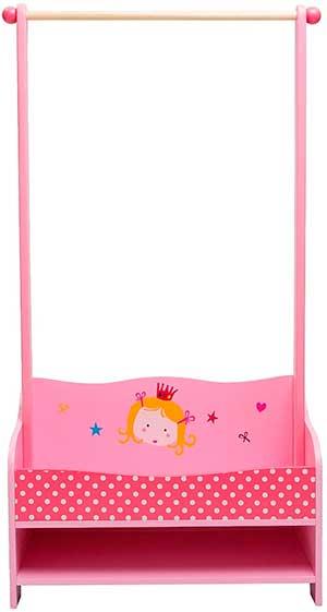 Perchero para niña de color rosa