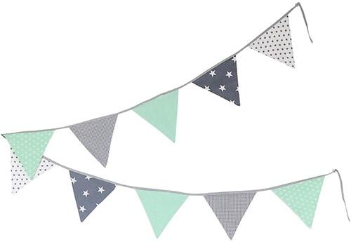 Banderolas de color verde y gris para niños