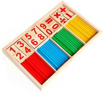 Material Montessori para trabajar las cantidades