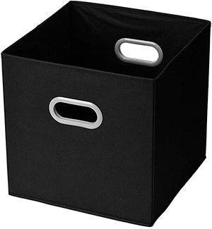 cubo negro de almacenaje