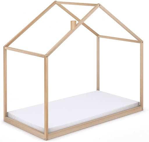 cama casa Montessori de madera