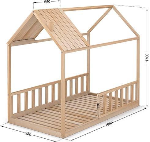 cama Montessori para colchón de 90