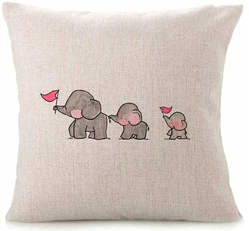 Cojín de elefantitos