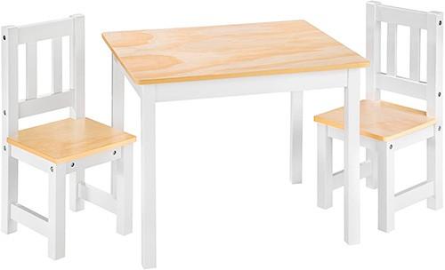 mesa rectangular para niños con sillas rectas