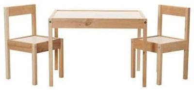 mesa y sillas para niños clásicass