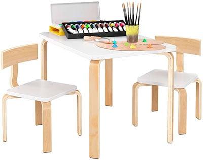mesa con sillas infantiles modernas