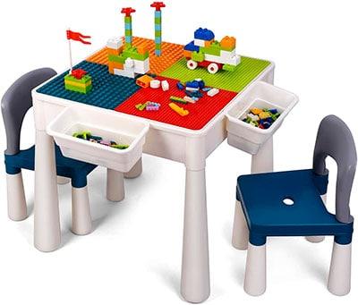 mesa para niños para jugar a construcciones lego