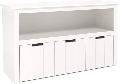 mueble rectangular infantil blanco