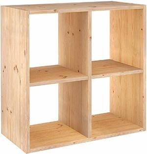 mueble cuadrado para cubos de madera