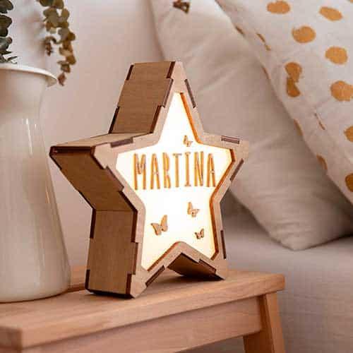Luz en forma de estrella para personalizar con el nombre que quieras