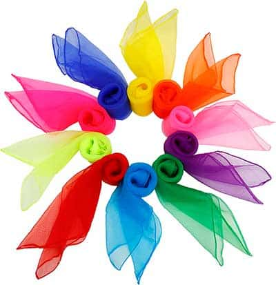 Pañuelos de colores diferentes semi transparentes