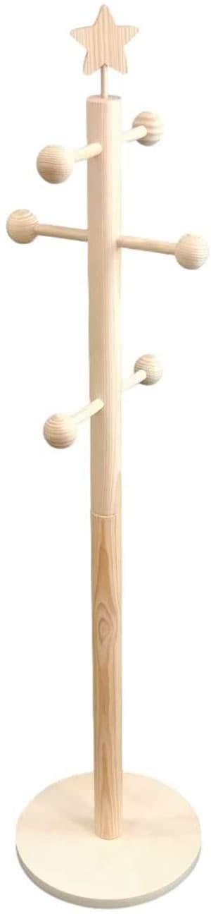Perchero de barra infantil de madera