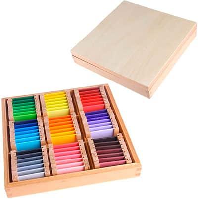 Tablillas de colores Montessori para trabajar la vista