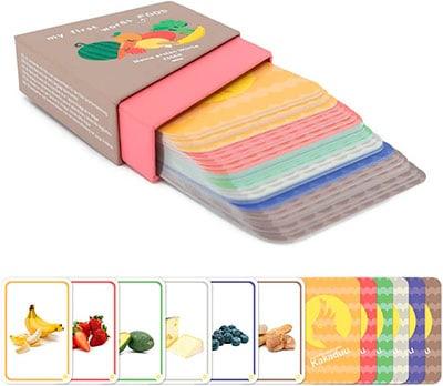 Juego de cartas con dibujos de alimentos