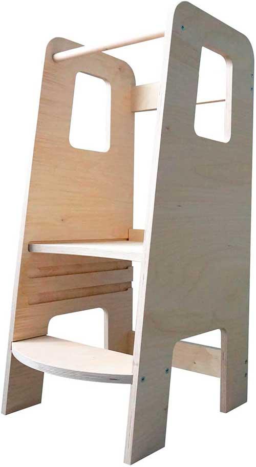 torre de aprendizaje moderna de madera