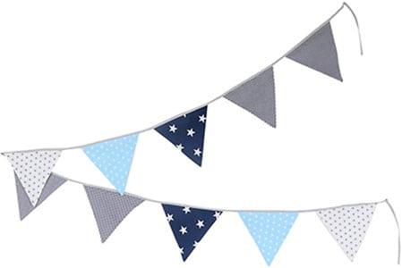 Banderola en tonos azules